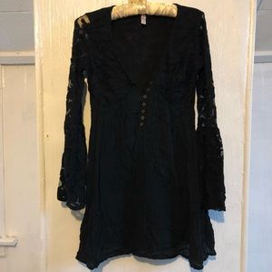 Target witchy bell sleeve lace dress